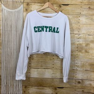 🍱Champion Central Cropped Long Sleeve Tee